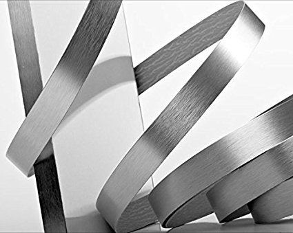 Brushed Aluminum Stainless Steel 7/8'' X 25' X 1mm Thickness Edgebanding Automatic Roll - Non Glued - Made in USA. by Edge Supply (Image #1)