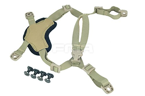 Ordinary Helmet General Suspension Lanyard with 4 Points Chin Strap with Bolts and Screws For Fast ACH MICH IBH Helmet - 4 Strap Chin Point