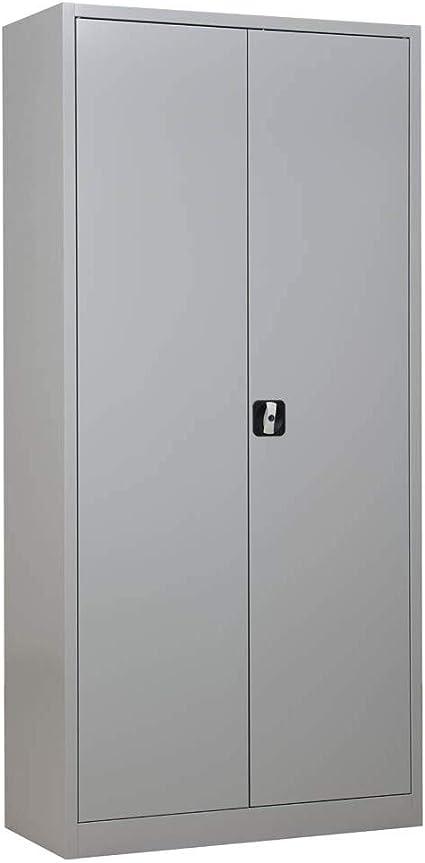Gurkan Stahlschrank Lichtgrau 92 0 X 42 0 X 195 0 Cm Amazon De Kuche Haushalt