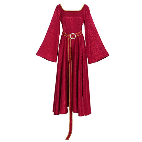 CosplayDiy Women's Dress for Rapunzel Tangled Mother Cosplay L Red]()