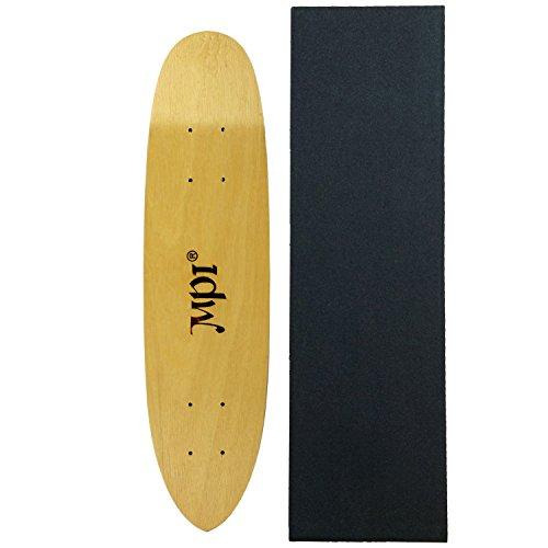 Vintage MPI Old School Skateboard Deck Light Wood Kicktail Cruiser with GRIPTAPE - Kicktail Skateboard Deck