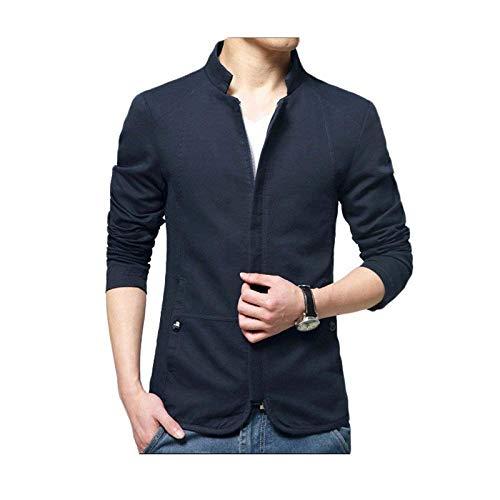 Blu In Sottoveste Sportiva Kaki Autunnale Colletto Scuro Abbigliamento Riso Lunga Nero Color Collo Giacche Giacca Da Uomo B Tuta E Manica EzUwzq