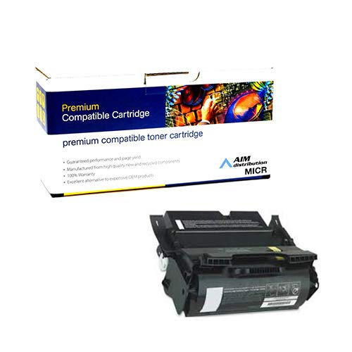 (AIM Compatible MICR Replacement for PrintMaster TN4600-MICR Toner Cartridge (25000 Page Yield) - Compatible to Lexmark 12A5845 - Generic)