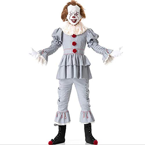 Halloween Costume, Men And Women Film Roleplay Movie Demon Clown Back Soul Costume,L -