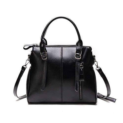 Bolso de Cuadrado Bolso Diagonal y pequeño Bolso Bolso Eeayyygch Negro Color tamaño Azul Negro Generoso Hombro Simple HqSx5n
