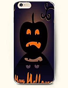 SevenArc Apple iPhone 6 Plus case 5.5 inches - Allhalloween A Scared Pumpkin Lantern