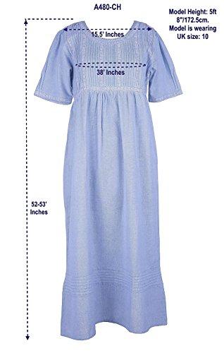 Riproduzione CH Vintage Vintage A480 Camicia Cotton Size da Lane notte Plus qwnXqvSI