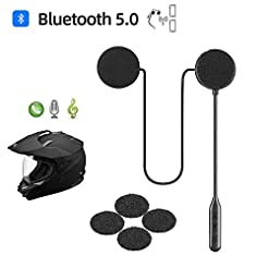 Motorcycle Helmet Bluetooth Headset,Blue...
