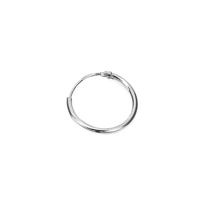 NKlaus, coppia di orecchini a cerchio, in oro bianco 333, pendenti e Oro  bianco, colore: Paar, cod. 1735: Amazon.it: Gioielli
