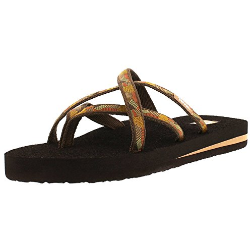 Teva Women's Olowahu Flip-Flop - 5 B(M) US - Waterfall Golden ()