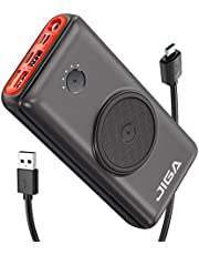 JIGA Chargeur Induction sans Fil 30000mAh Haute Capacité Batterie Externe 10W Chargeur Portable à Induction 18W PD Charge Rapide Power Bank sans Fil Pour Pour iPhone, Samsung, iPad, etc.