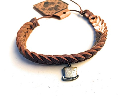 Mad Hatter Tea Party Tween Costume (Hat Charm Braided Faux Leather Bracelet)