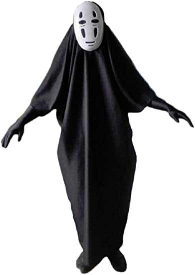 Gk O Spirited Away No Face Kaonashi Cosplay Costume With Purple Mask Clothes Gloves Asian Size M Amazon Ca Clothing Accessories
