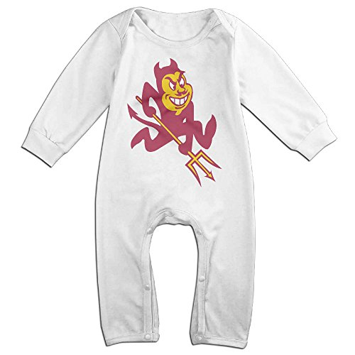 Waffle Costume Diy (Dara Arizona State University Sun Devils NewBorn Long Sleeve Romper Bodysuit Outfits White 24 Months)