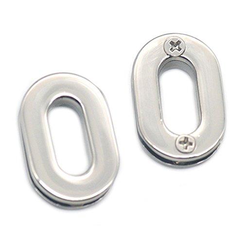 Fujiyuan 10 pcs Oval Grommet Eyelets Canvas Self Backing Screw Zinc Alloy Handbag Clothes Leather Buckle Craft - Screw Grommets