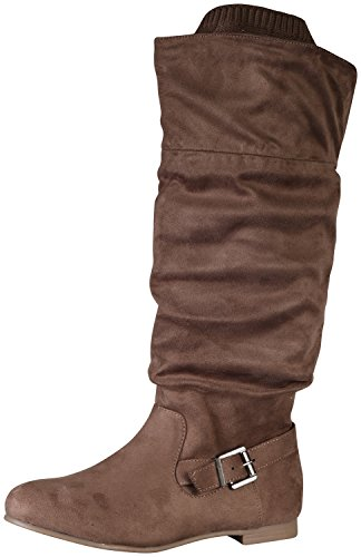 Wild Women's Knee Suede Starcy Taupe Slouchy High Boot Diva 95 rwUqrP