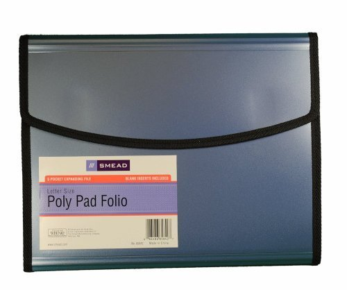 Smead 5 Pocket Expanding File Letter Size Padfolio (Padfolios Plastic)