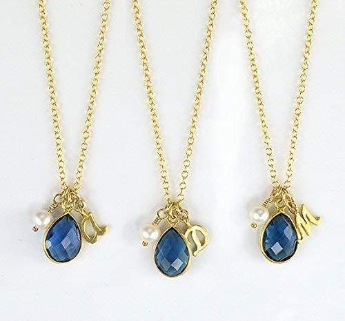 65618a2cc478b Amazon.com: Bridesmaid Gifts, Bridesmaid Initial Necklace ...