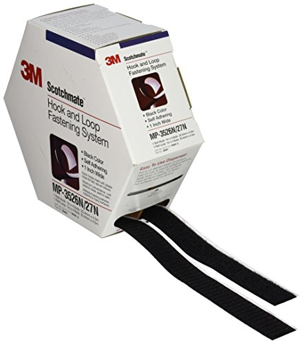 - 3M Scotchmate Hook and Loop Fastening System, 1-Inch by 5-Yard, Black