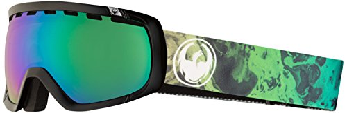 Dragon Alliance Rogue Ski Goggles, Black, Medium, Ink/Luma Green Ion Lens