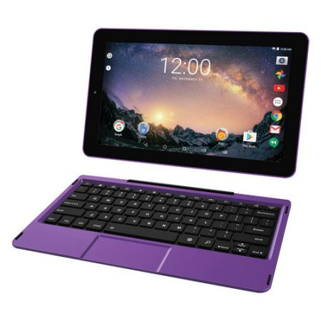 2016 Newest Premium High Performance RCA Viking Pro 10.1″ 2-in-1 Touchscreen Laptop Computer Tablet Quad-Core Processor 1G Memory 32GB Hard Drive Detachable-Keyboard Webcam Android 5.0 Lollipop Purple