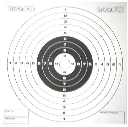 Gamo Fusil à Air Comprimé / Arme à Feu / Pistolet Œil de Bœuf Cibles Plombs - Set 100 In Rigide Carte pour Cône Pièges - Standard 14cm Carré Taille (Également Voir Notre Tirer N C et Autres Jeu )