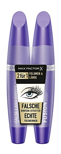 Max Factor False Lash Effect Fusion Mascara schwarz plus Gratis Max Factor False Lash Effect Fusion Mascara schwarz, 2er Pack ( 2 x 13 ml )