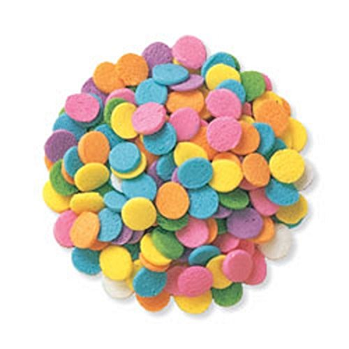 Cupcake Sprinkles - Edible Confetti Sprinkles Cake Cookie Cupcake Quins Pastel Sequin 8 Ounces