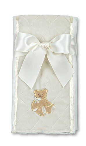 Bearington Baby Lil' Teddy Burp Cloth (Cream), 14