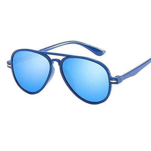Baby Sunglasses,Yamally_9R Retro Classic Aviator Anti-UV Sunglasses Color Film Goggles Stylish Eyewear (Blue)