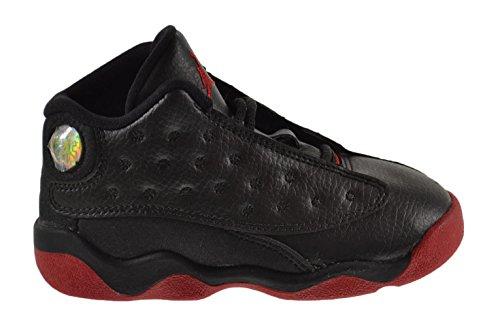 Jordan 13 Retro ''Dirty Bred'' BT Baby Toddler Shoes Black/Gym Red-Black 414581-003 (10 M US) by Jordan