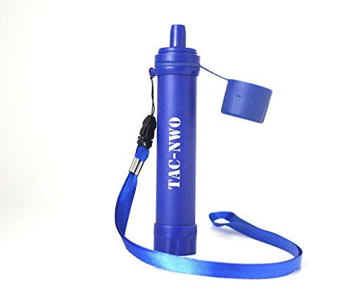 Water Filter Straw by TAC NWO 2 oz BPA free 0.1 micron filter with lanyard