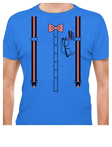 Funny Nerd Geek Halloween Easy Costume Men T-Shirt Large Aqua]()