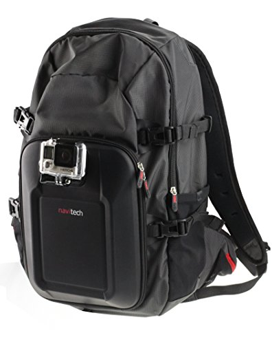 Navitech Action Camera Backpack With Integrated Chest Strap Compatible With The Levin Action Camera 2.0 Inch 170 Degree Ultra-wide Angle Lens Full HD 1080p