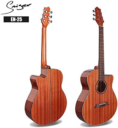 ACDOS 40 inch Guitar Folk Guitar Instrument Light The Whole Sapele Guitar (Color : Wood Color Size : 40 inches) / ACDOS 40 inch Guitar Folk Guitar Instrument Light The Whole Sapele Guitar (Color : Wood Color Size : 40 inches)