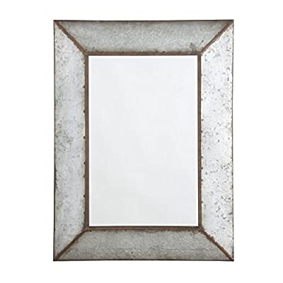 Ashley Furniture Signature Design - O'Talley Metal Framed Accent Mirror - Industrial Design - Vertical Only - Antique Gray - DECORATIVE ACCENT MIRROR: You'll love the urban industrial look of this accent mirror. With bronze-tone edging, it encapsulates timeworn beauty in all the best ways for your home METAL FRAME: Made of mirrored glass with an antique galvanized metal frame. Vertical hanging only. Clean with a soft, dry cloth for best care MODERN INDUSTRIAL DESIGN: The cool and industrial appearance of this mirror makes it an easy match for other decorations in both its color and size - bathroom-mirrors, bathroom-accessories, bathroom - 411f6oHIkHL. SS400  -