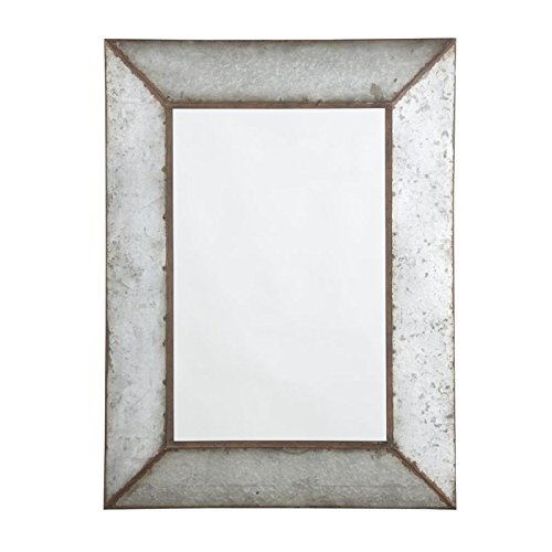 Ashley Furniture Signature Design - O'Talley Metal Framed Accent Mirror - Industrial Design - Vertical Only - Antique Gray Above Accent Furniture