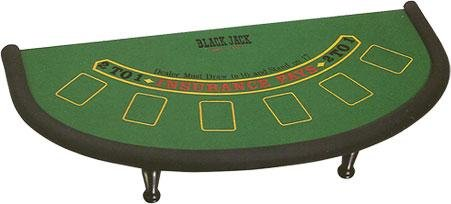 Cambor Games Black Jack Felt Table with Padded edge