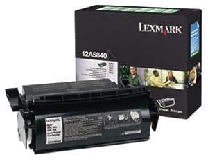 Lexmark International LEX12A5840 Optra T Prebate Print Cartridge- 10- 000 Page Yield- Black