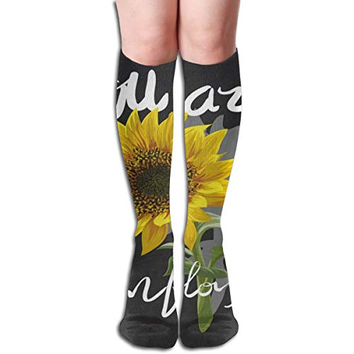 (Socks Sunflower Quotes Customized Womens Stocking Gift Sock Clearance for Girls)