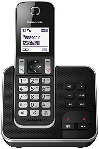 Panasonic KX-TGD320 – Teléfono Fijo Inalámbrico con Contestador (LCD, Identificador de Llamadas, Agenda de 120 Números…