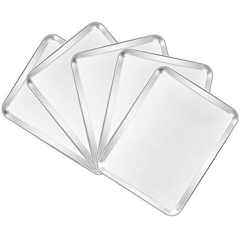 Hot Deal 5pcs Baking Pans Cookie Sheets Stainless Steel