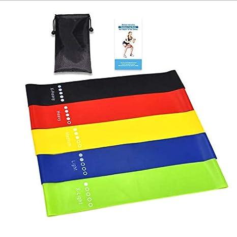 Morning Stand Bandas Elasticas Fitness Gomas Elasticas Fitness, Hechas de Látex Natural y la Piel-amistosa, para Entrenamiento de Resistencia, ...