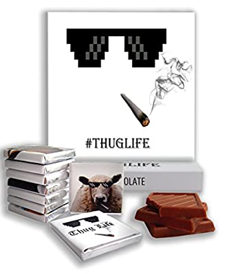 "Chocolate gift ? ""THUG LIFE"" ? funny cool gift for your swag friends"