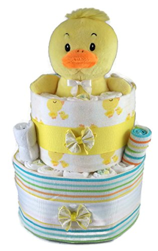 Sunshine Gift Baskets - Big Ducky Pampers Swaddlers Diaper Cake Gift Set