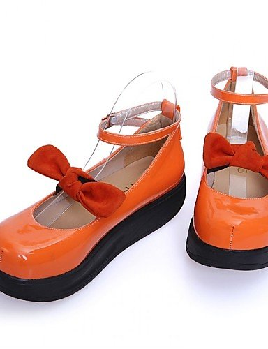 us8 Zq Cuero Almendra Patentado Zapatos Planos 7 us6 Comfort Uk4 Orange Cn37 Vestido Casual Plataforma 5 Negro 5 Orange Uk6 Mujer 5 Naranja Cn39 Eu39 Eu37 De 7x6rwWAq87