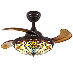 Why choose SILJOY Brand Ceiling Fan Chandelier? ★ SILJOY ceiling fan is a combination of ceiling fan and chandelier. It has practicability and ornamental at the same time. The retractable ceiling fan blades can be invisible when you no need t...