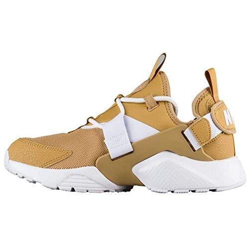 Nike Womens Air Huarache City Fabric Hight Top Fashion, Gold, Size 6.0 (Sneakers Gold Huarache)