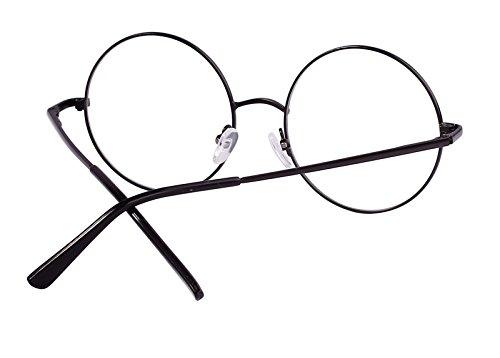 d437928d0f Agstum Retro Round Prescription ready Metal Eyeglasses Frame 51mm (X-Large  Size) (