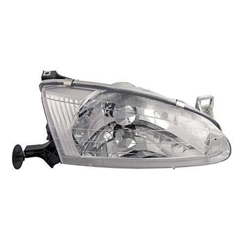 HEADLIGHTSDEPOT Compatible with Chevy GEO Prizm Headlight OE Style Replacement Headlamp Passenger Side New (Geo Prizm Replacement Headlight)